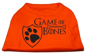 Game of Bones Screen Print Dog Shirt Orange XXL (18)